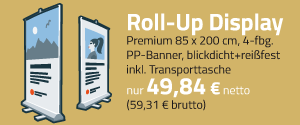 Roll Up Displays drucken und bestellen